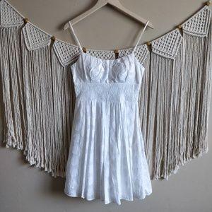 B. Darlin White Polka Dot Pleated Skater Dress 5/6